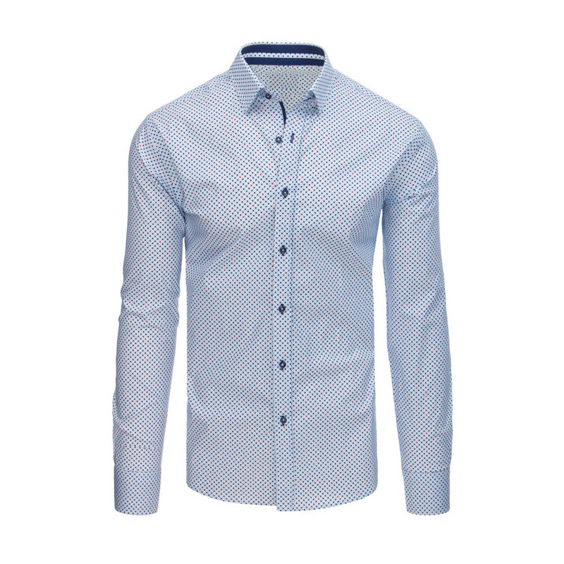 ee7c09ece8e Pánská bílá košile s puntíky