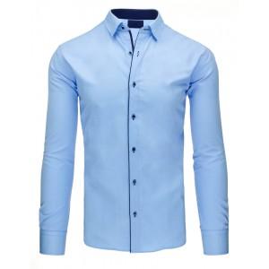 Pánská košile modrá slim fit