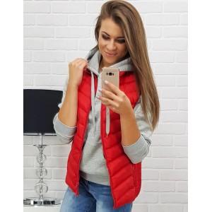 Dámská vesta červené barvy