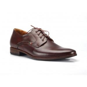 Hnědé pánské kožené společenské boty COMODO E SANO