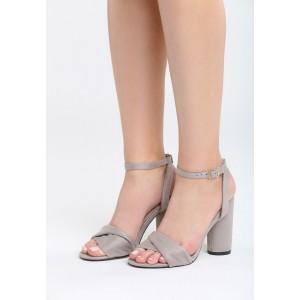 Letní sandály pro dámy v šedé barvě