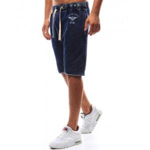 Modré kraťasy pánské pod kolena