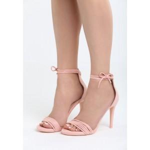 VELIKOST 37 Dámské semišové sandály růžové barvy