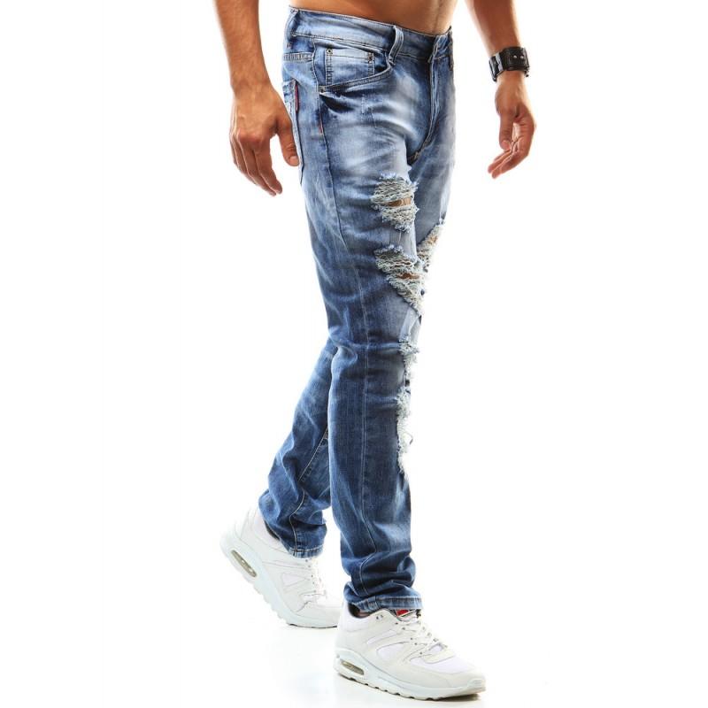 Roztrhané džíny pro muže 2ae3b3f827