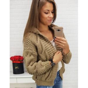 Hrubý pletený svetr béžový
