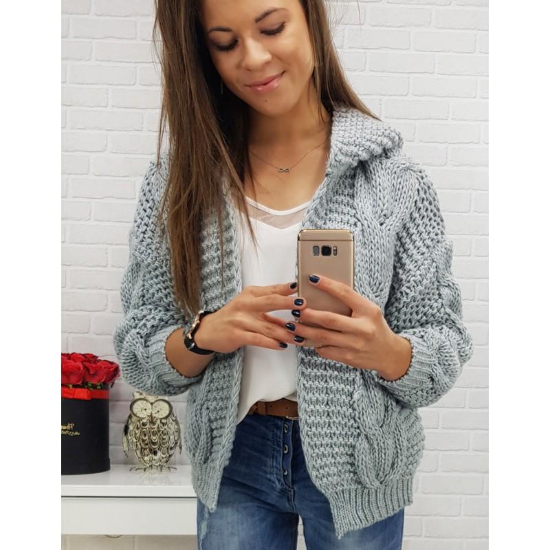 Hrubý pletený svetr v šedé barvě ea94123f9e