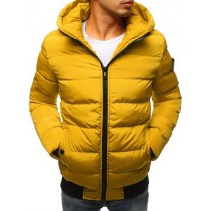 Pánské zimní bundy ve žluté barvě