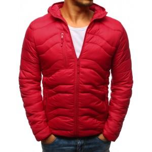 Pánská přechodná bunda v červené barvě