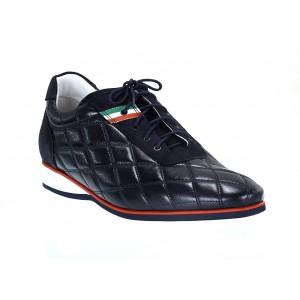 Pánské kožené sportovní boty modré