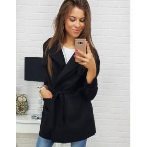 Krátký kabát v černé barvě