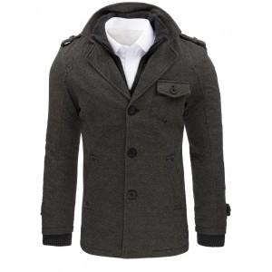 Kabát na zimu s náprsní kapsou