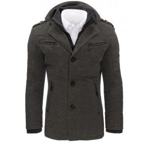 Pánský zimní kabát šedý