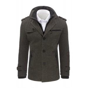 Moderní kabáty pro pány šedý