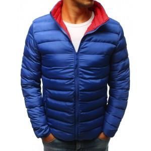 Pánska podzimní bunda prošívaná modra