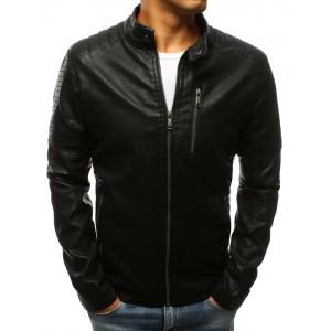 Luxusní kožené bundy pánské v černé barvě