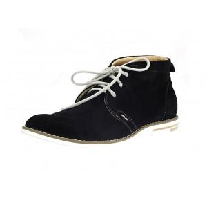 Pánské kožené boty černé barvy