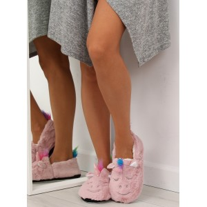 Domácí pantofle dámské růžové