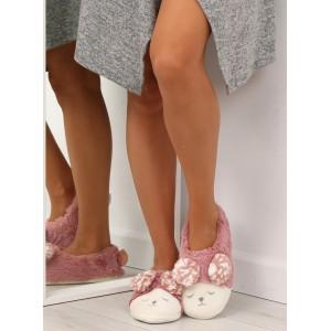 Pantofle dámské měkkoučké růžové