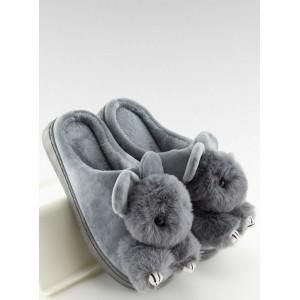 Domácí pantofle dámske šedé