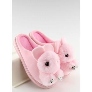 Domácí pantofle dámske růžové