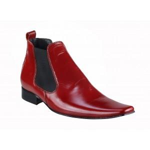 Pánské kotníkové boty červené