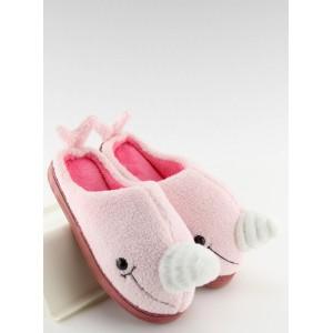 Dámské pantofle růžové velryba