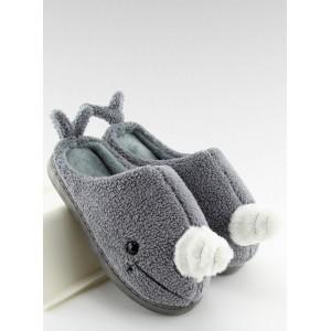 Dámské pantofle šedé velryba