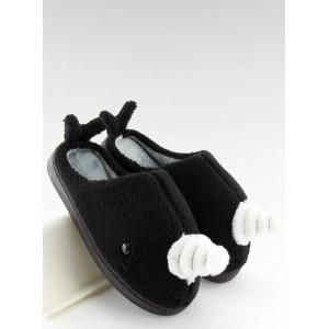 Dámské pantofle černé velryba