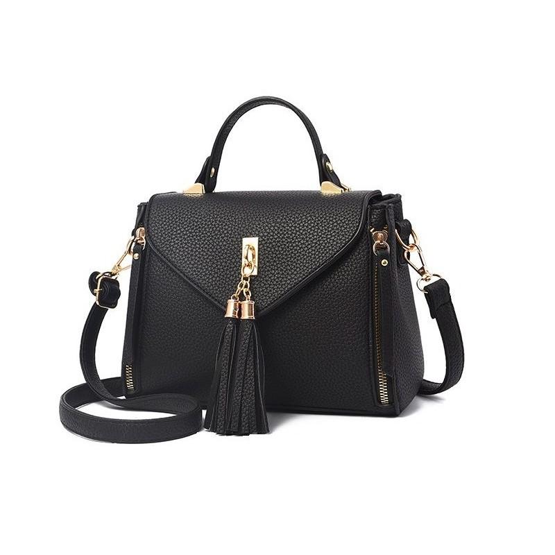 Luxusní kabelky pro dámy s třásněmi černé 3224322ae39
