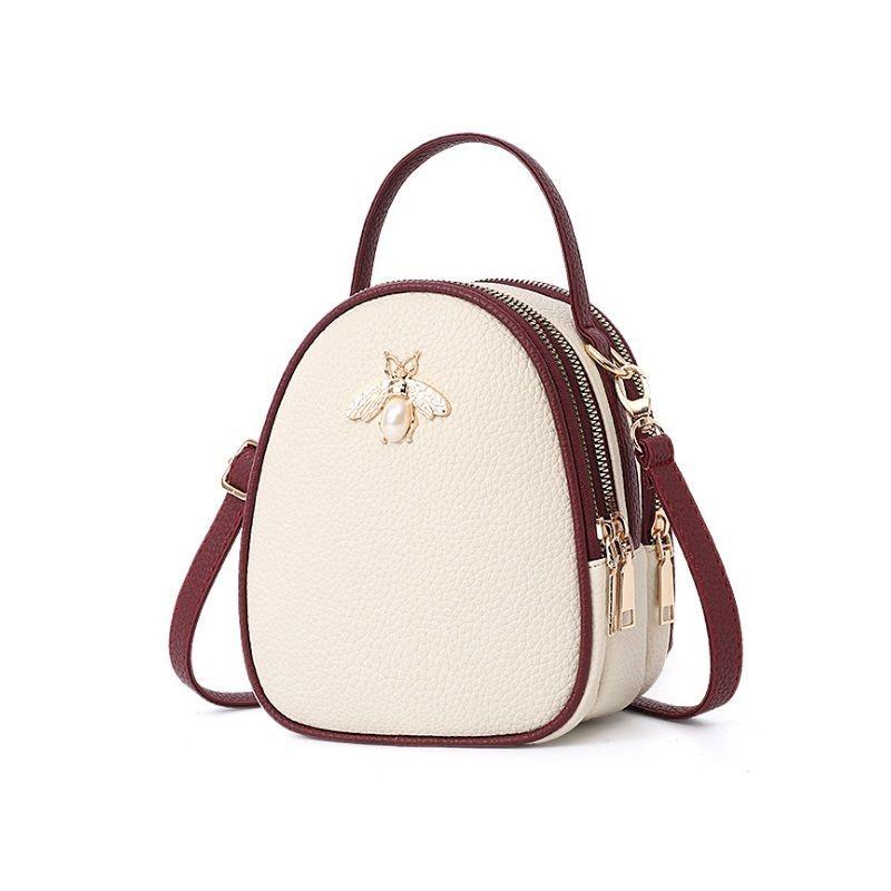 Moderní kabelky přes rameno v krémové barvě e8b305001ab