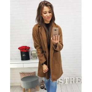 Pohodlné dámské kabáty v hnědé barvě - manozo.cz b1b22233c58