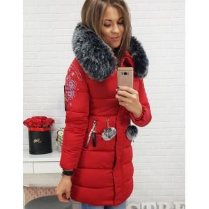 Zimní bundy pro ženy v červené barvě