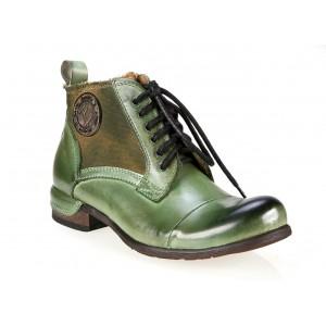 Pánské zimní boty zelené barvy