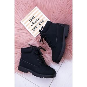 Zimní dětské boty v černé barvě