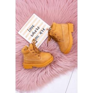 Sportovní zimní obuv pro děti v béžové barvě