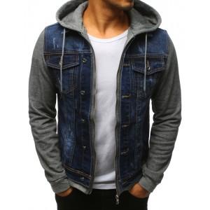 Pánské riflová bunda s odnímatelnou kapucí