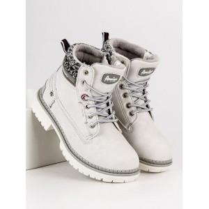 Zimní dětské boty se zipem na boční straně