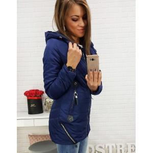 Tmavě-fialová podzimní dámská bunda s ... 63cd065cf4a