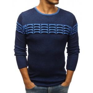 Pánský pletený svetr tmavě modré barvy