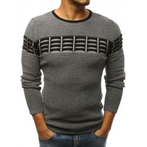 Teplé pánské svetry šedé barvy