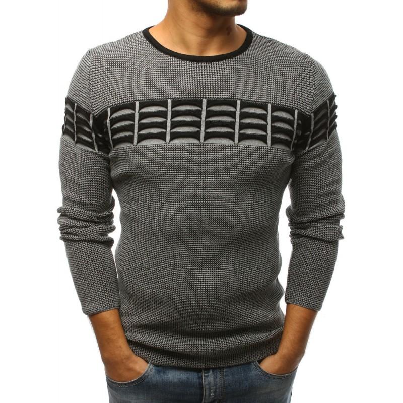 Teplé pánské svetry šedé barvy a3364ab52d