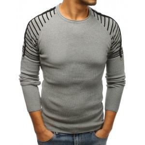 Zimní svetry pánské v šedé barvě