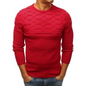 Elegantní pánský svetr v červené barvě