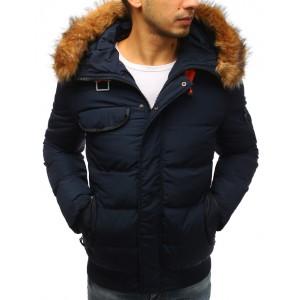 Pánská stylová bunda na zimu s kožešinou