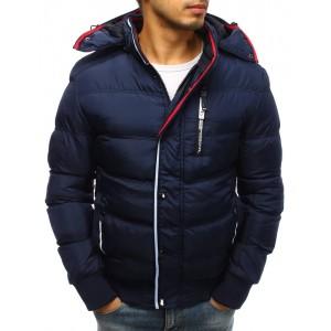 Moderní zimní bunda tmavě modrá pro pány