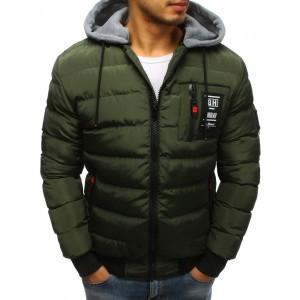 Moderní prošívaná bunda pro pány do chladného počasí