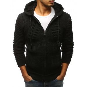 Zimní svetr v černé barvě pro pány