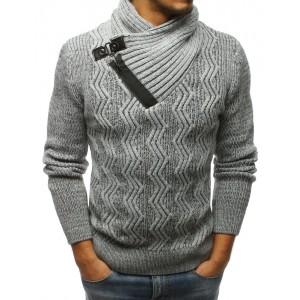 Hrubý pletený pánský svetr na zimu