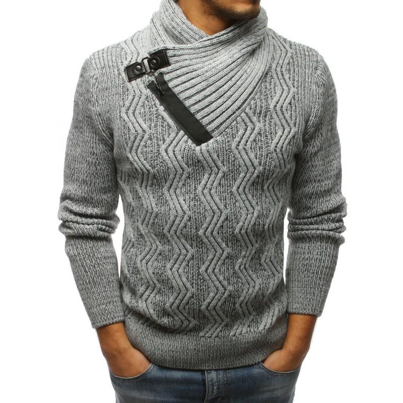 Hrubý pletený pánský svetr na zimu 3d3e81ddfc