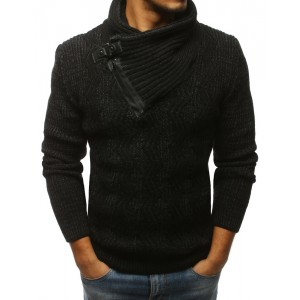 Vlněný svetr pánský černé barvy